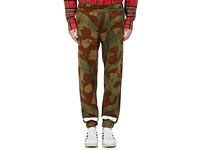 Off White Men's Camouflage Cotton Ripstop Track Pants Green No Color
