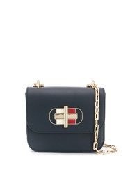 Tommy Hilfiger Leather Shoulder Bag Blue