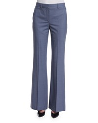 Theory Jotsna Continuous Wool Blend Pants Denim Melange Women's