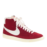 J.Crew Men's Nike Blazer High Suede Vintage Sneakers Varsity Red Sail