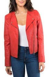 Bagatelle 'S Leather Biker Jacket Red
