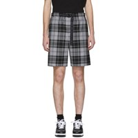 Alexander Wang Grey Tartan Shorts