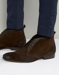 Base London Trader Suede Chukka Boots Brown