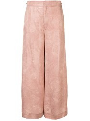 Roland Mouret High Waisted Wide Leg Trousers Pink