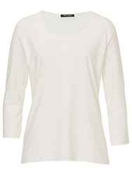 Betty Barclay Three Quarter Sleeve T Shirt Off White