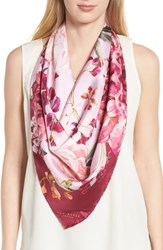 Ted Baker London Serenity Square Silk Scarf Pale Pink