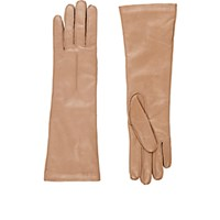 Barneys New York Women's Whipstitched Nappa Leather Gloves Tan