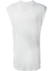 Julius V Neck Tank Top White
