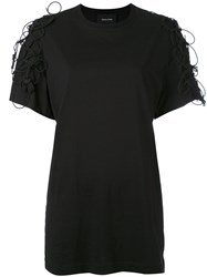 Simone Rocha Lace Up T Shirt Women Cotton Xs Black