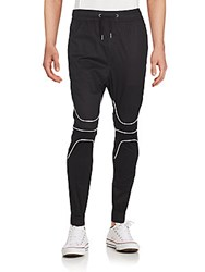 Zanerobe Solid Tapered Pants Black White