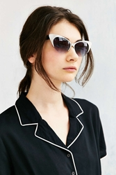 Urban Outfitters Retro Exaggerated Cat Eye Sunglasses Silver