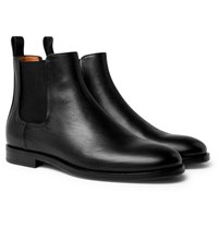 Lanvin Full Grain Leather Chelsea Boots Black