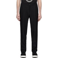 Salvatore Ferragamo Black Pique Trousers