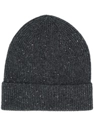 Isabel Marant Chilton Ribbed Beanie Grey