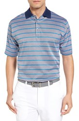 Bobby Jones Men's Xh20 Stripe Stretch Golf Polo Summer Navy