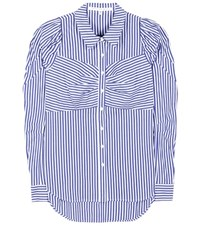 Veronica Beard Striped Cotton Shirt Blue