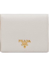 Prada Small Bifold Wallet White