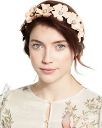 Jennifer Behr Farah Floral Circlet Headband Gold Blush
