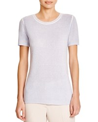 Theory Tolleree Cashmere Tee Blue Opal Print