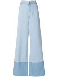 Ports 1961 Long Straight Leg Jeans Blue