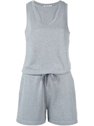 T By Alexander Wang Sleeveless Playsuit Grey
