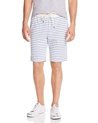 Splendid Striped Sweat Shorts Off White