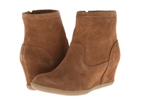 Minnetonka Side Zip Hidden Wedge Dusty Brown Suede Women's Boots