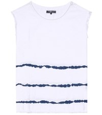 7 For All Mankind Surfer Tie Dye Cotton Top White