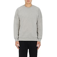 Acne Studios Men's Font Cotton Fleece Sweatshirt Grey