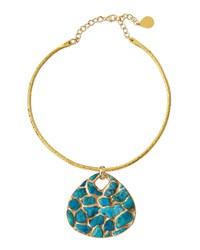 Devon Leigh Copper Infused Turquoise Pendant Necklace