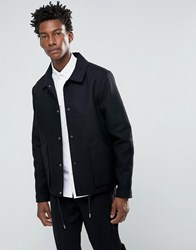 Bellfield Bellow Pocket Wool Coach Jacket Black