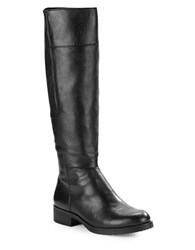 Bandolino Terusa Leather Panel Riding Boots Black