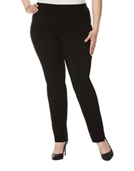 Rafaella Plus Solid Stretch Pants Black