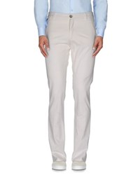Manuel Ritz White Trousers Casual Trousers Men Ivory