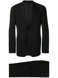 Giorgio Armani Two Piece Fitted Suit Black