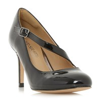 Head Over Heels Anitta Asymetric Strap Court Shoes Black