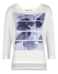 Sandwich Layered Printed T Shirt White