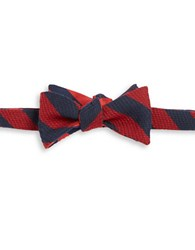 Brooks Brothers Striped Bow Tie Red Blue