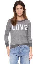 Xsel By Jacks And Jokers Love Crew Neck Sweatshirt Grey