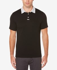 Perry Ellis Big And Tall Men's Cotton Polo Black