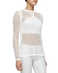 Helmut Lang See Through Netted Knit Top