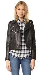 Current Elliott The Roadside Leather Jacket Black Leather
