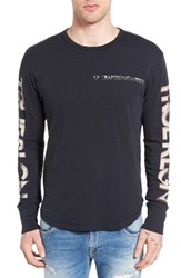 True Religion Men's Brand Jeans Retro Graphic Long Sleeve T Shirt