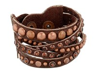 Leather Rock B513 Black Walnut Bracelet Brown
