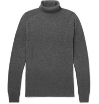 Tomas Maier Slim Fit Cashmere Rollneck Sweater Gray