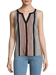 Sanctuary Craft Shell Printed Top Blue Multi