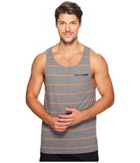 Tavik Tracer Tank Top Heather Grey Orange Men's Sleeveless