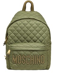 Moschino Large Studded Quilted Nylon Backpack