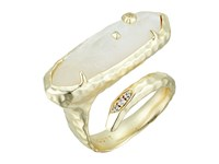 Kendra Scott Blithe Ring Gold Crystal Ivory Illusion Cubic Zirconia Ring