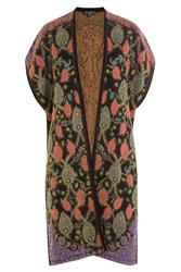 Etro Sleeveless Cape Cardigan With Wool And Alpaca Multicolor